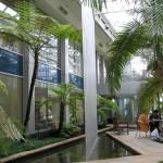 Atrium raindrops fountains
